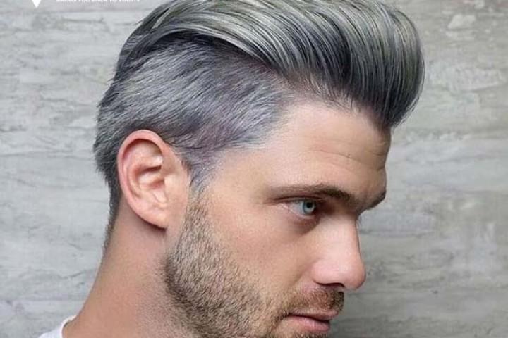 Cách làm đẹp với tóc giả màu xám khói nam đơn giản