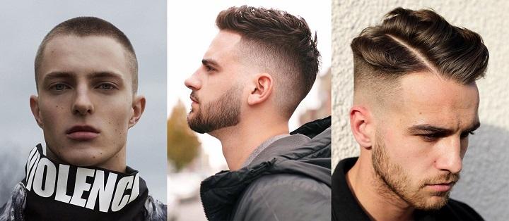 Kiểu tóc nam trán cao 1