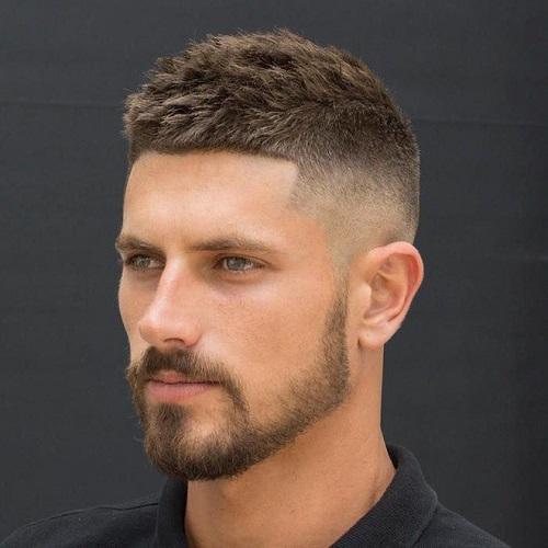 Kiểu tóc nam trán cao crew cut 1