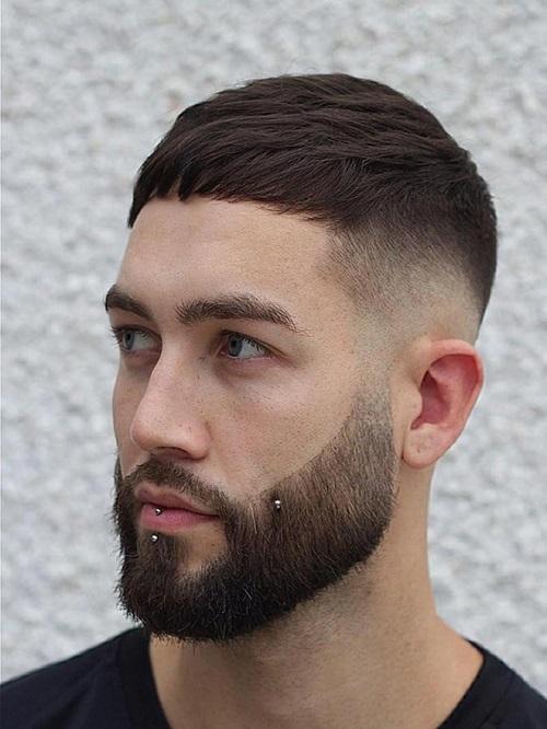 Kiểu tóc nam trán cao french crop 1